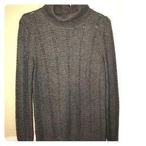 Gray Loft turtleneck sweater